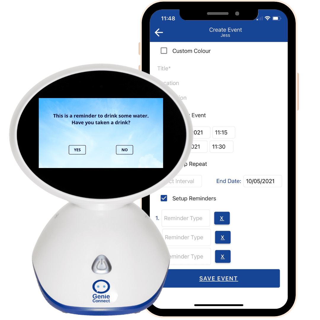 Companion app and GenieConnect to take water